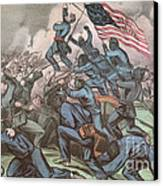 Charge Of The 54th Massachusetts Canvas Print by Photo Researchers