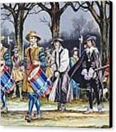 Charles I's Last Walk  Canvas Print by Ron Embleton