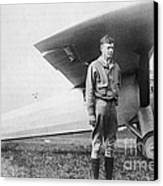 Charles Lindbergh American Aviator Canvas Print by Photo Researchers