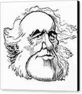 Charles Lyell, Caricature Canvas Print by Gary Brown
