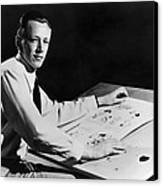 Charles M. Schulz, 1922-2000, American Canvas Print by Everett