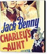 Charleys Aunt, Jack Benny, Kay Francis Canvas Print