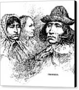 Cherokee Tribe. Engraved Portraits Canvas Print by Everett