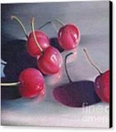 Cherry Talk Canvas Print by Elizabeth Dobbs