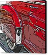Chevrolet Fleetline Deluxe Rear Wheel Study Canvas Print
