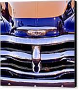 Chevrolet Pickup Truck Grille Emblem Canvas Print by Jill Reger