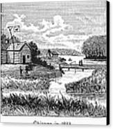 Chicago, 1833 Canvas Print