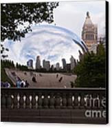 Chicago Cloud Gate Bean Sculpture Canvas Print by Paul Velgos