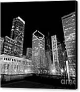 Chicago Downtown At Night  Canvas Print by Paul Velgos