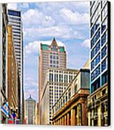 Chicago - Looking South From Lasalle Street Canvas Print