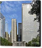 Chicago Millennium Monument And Fountain Canvas Print by Christine Till