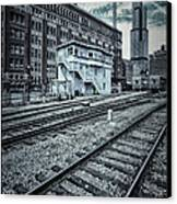 Chicago Rail Station Canvas Print by Donald Schwartz
