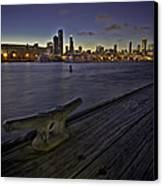 Chicago Skyline And Harbor At Dusk Canvas Print by Sven Brogren