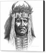 Chief Big Face Canvas Print