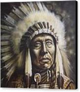 Chief Canvas Print by Tim  Scoggins