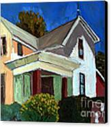 Childhood Home Plein Air Canvas Print by Charlie Spear
