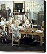 Children Play In A Day Nursery Canvas Print