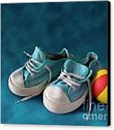 Children Sneakers Canvas Print by Carlos Caetano