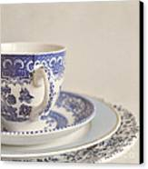 China Cup And Plates Canvas Print by Lyn Randle