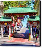 Chinatown Gate In San Francisco . 7d7139 Canvas Print