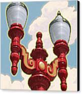 Chinatown Street Light Canvas Print by Mitch Frey