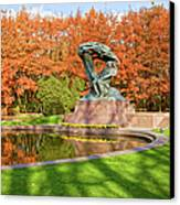 Chopin Monument In The Lazienki Park Canvas Print by Artur Bogacki