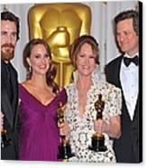 Christian Bale, Natalie Portman Canvas Print