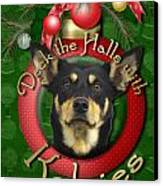 Christmas - Deck The Halls With Kelpies Canvas Print