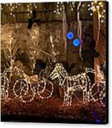 Christmas Carriages Canvas Print by DigiArt Diaries by Vicky B Fuller