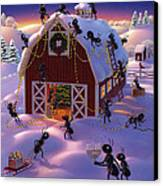 Christmas Decorator Ants Canvas Print by Robin Moline