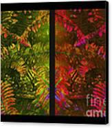 Christmas Fern Diptych Canvas Print by Judi Bagwell
