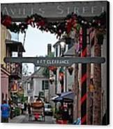 Christmas On Aviles Street Canvas Print