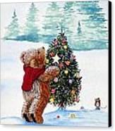 Christmas Star Canvas Print by Gordon Lavender
