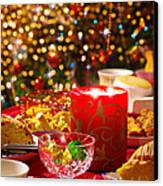 Christmas Table Set Canvas Print by Carlos Caetano
