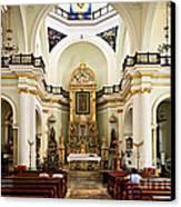 Church Interior In Puerto Vallarta Canvas Print by Elena Elisseeva