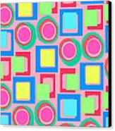 Circles And Squares Canvas Print by Louisa Knight