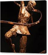 Citius Altius Fortius Olympic Art Gymnast Over Black Canvas Print