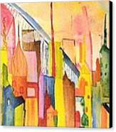 City   Canvas Print by Katina Cote