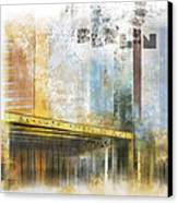City-art Berlin Potsdamer Platz Canvas Print