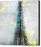 City-art Paris Eiffel Tower Letters Canvas Print