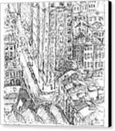 City Scape Canvas Print by Elizabeth Carrozza