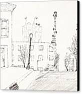 City Street - Sketch Canvas Print by Robert Meszaros