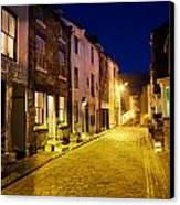 City Street At Night, Staithes Canvas Print