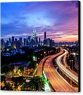Cityscape Of Kuala Lumpur Canvas Print