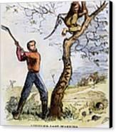 Civil War Cartoon, 1862 Canvas Print by Granger