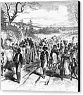 Civil War: Freedmen, 1863 Canvas Print by Granger