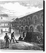 Civil War: New York Fort Canvas Print by Granger