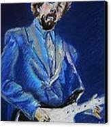 Clapton Jams Blue Canvas Print by Emily Michaud