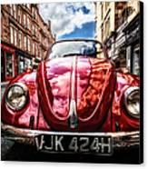 Classic Vw On A Glasgow Street Canvas Print by John Farnan