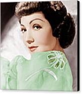 Claudette Colbert, Ca. 1950 Canvas Print by Everett